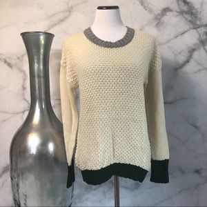 Coincidence and Chance Color Block Sweater Size M